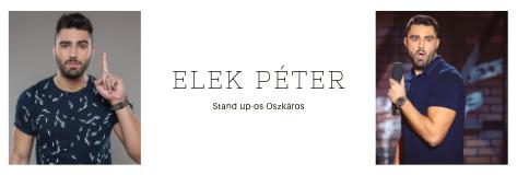 Telekocsizó stand up-os: Elek Péter